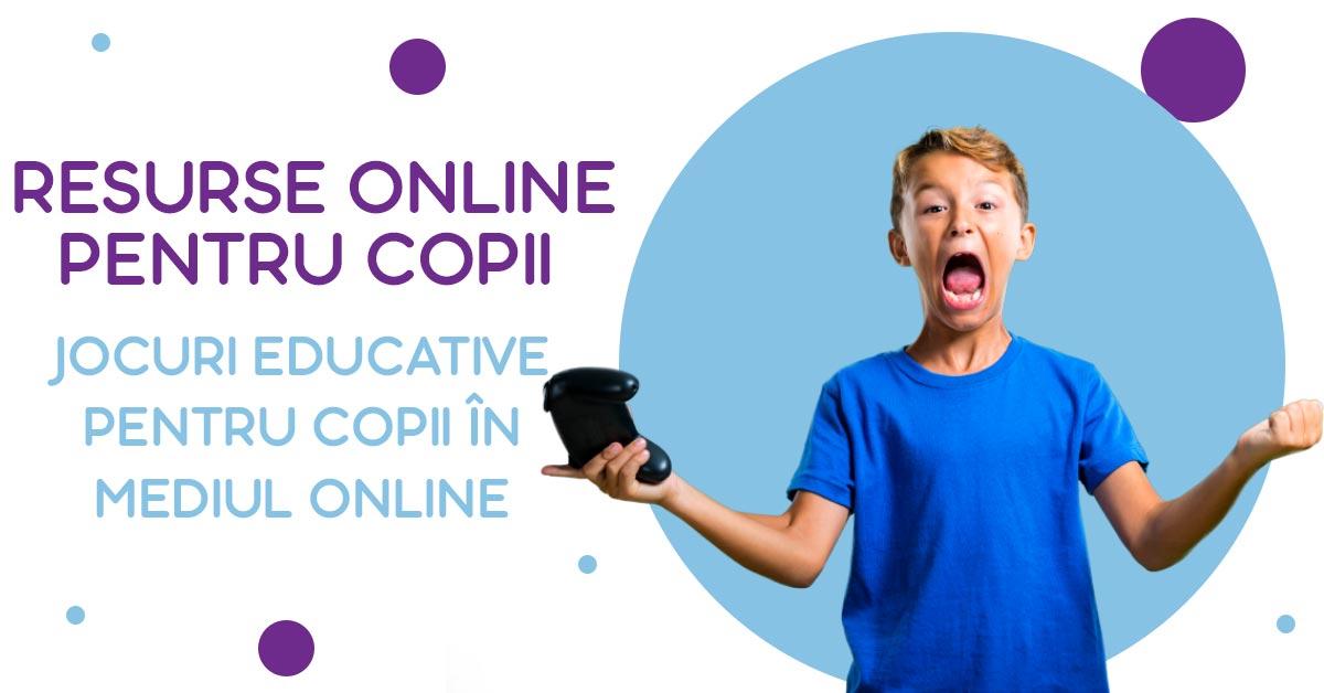 Jocuri educative pentru copii în mediul online