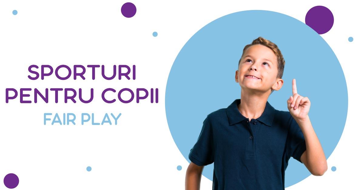 Sporturi pentru copii: fair play